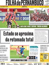 Capa do jornal Folha de Pernambuco 26/10/2020