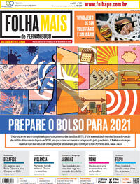 Capa do jornal Folha de Pernambuco 26/12/2020