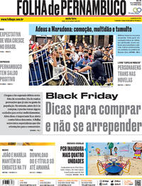 Capa do jornal Folha de Pernambuco 27/11/2020