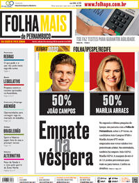 Capa do jornal Folha de Pernambuco 28/11/2020
