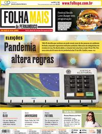 Capa do jornal Folha de Pernambuco 29/08/2020
