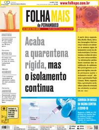 Capa do jornal Folha de Pernambuco 30/05/2020