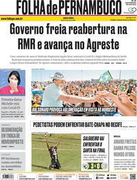 Capa do jornal Folha de Pernambuco 31/07/2020
