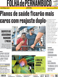 Capa do jornal Folha de Pernambuco 06/01/2021