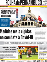 Capa do jornal Folha de Pernambuco 07/01/2021