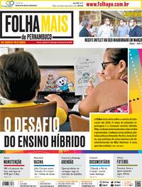 Capa do jornal Folha de Pernambuco 09/01/2021