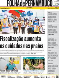Capa do jornal Folha de Pernambuco 11/01/2021