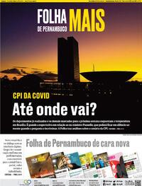 Capa do jornal Folha de Pernambuco 15/05/2021
