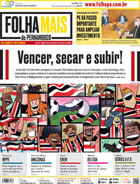Capa do jornal Folha de Pernambuco 16/01/2021