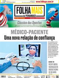 Capa do jornal Folha de Pernambuco 17/04/2021