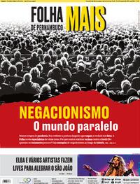 Capa do jornal Folha de Pernambuco 19/06/2021