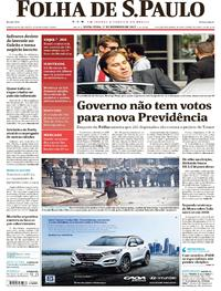 Capa do jornal Folha de S.Paulo 01/12/2017
