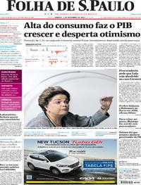 Capa do jornal Folha de S.Paulo 02/09/2017