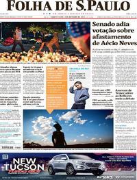 Capa do jornal Folha de S.Paulo 04/10/2017