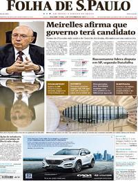 Capa do jornal Folha de S.Paulo 04/12/2017