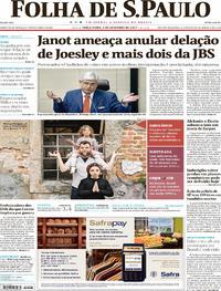 Capa do jornal Folha de S.Paulo 05/09/2017