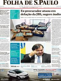 Capa do jornal Folha de S.Paulo 06/09/2017