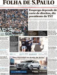 Capa do jornal Folha de S.Paulo 06/11/2017
