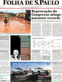 Capa do jornal Folha de S.Paulo 06/12/2017