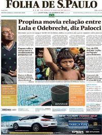 Capa do jornal Folha de S.Paulo 07/09/2017