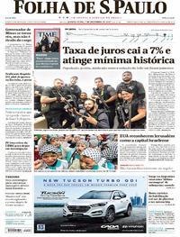 Capa do jornal Folha de S.Paulo 07/12/2017