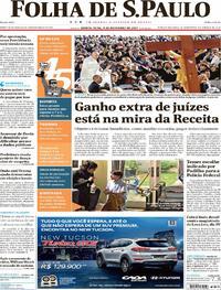 Capa do jornal Folha de S.Paulo 09/11/2017