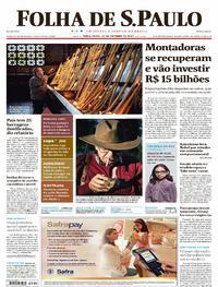 Capa do jornal Folha de S.Paulo 10/10/2017