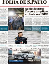 Capa do jornal Folha de S.Paulo 10/11/2017