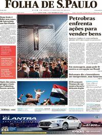 Capa do jornal Folha de S.Paulo 13/10/2017