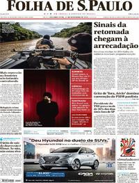 Capa do jornal Folha de S.Paulo 13/11/2017