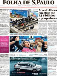 Capa Folha de S.Paulo 2017-12-13