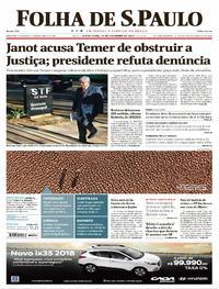 Capa do jornal Folha de S.Paulo 15/09/2017