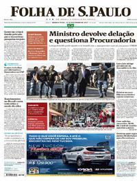 Capa do jornal Folha de S.Paulo 15/11/2017