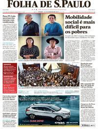 Capa do jornal Folha de S.Paulo 16/12/2017