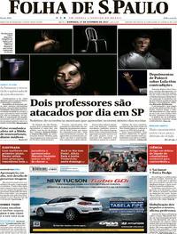 Capa do jornal Folha de S.Paulo 17/09/2017