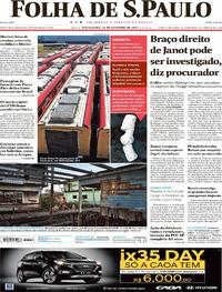 Capa do jornal Folha de S.Paulo 22/09/2017