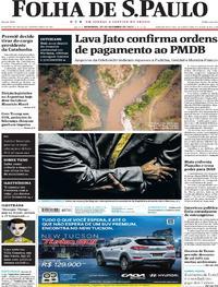 Capa do jornal Folha de S.Paulo 22/10/2017