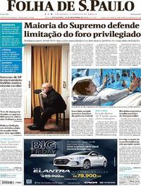 Capa do jornal Folha de S.Paulo 24/11/2017