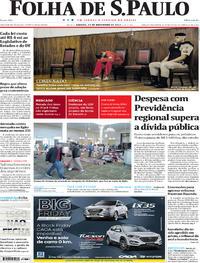 Capa do jornal Folha de S.Paulo 25/11/2017
