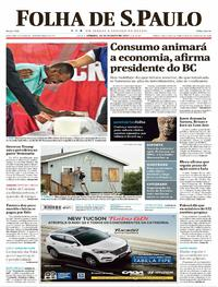 Capa do jornal Folha de S.Paulo 26/08/2017