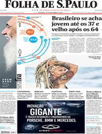 Capa do jornal Folha de S.Paulo 26/11/2017
