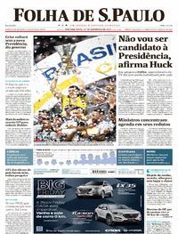 Capa do jornal Folha de S.Paulo 27/11/2017
