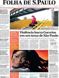 Capa do jornal Folha de S.Paulo 27/12/2017