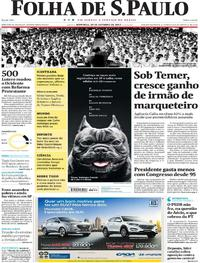 Capa do jornal Folha de S.Paulo 29/10/2017