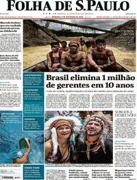 Capa do jornal Folha de S.Paulo 04/02/2018