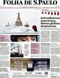 Capa do jornal Folha de S.Paulo 06/02/2018