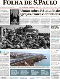 Capa do jornal Folha de S.Paulo 15/01/2018