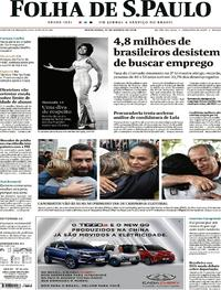 Capa Folha de S.Paulo 2018-08-17