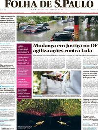 Capa do jornal Folha de S.Paulo 22/01/2018