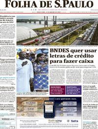 Capa do jornal Folha de S.Paulo 23/01/2018